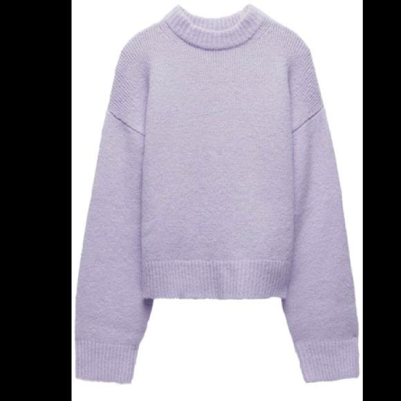 Lilac Knit Zara Sweater BNWOT